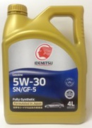 Idemitsu Fully-Synthetic Sn Gf-5 5W30 Масло Моторное 4Л Син